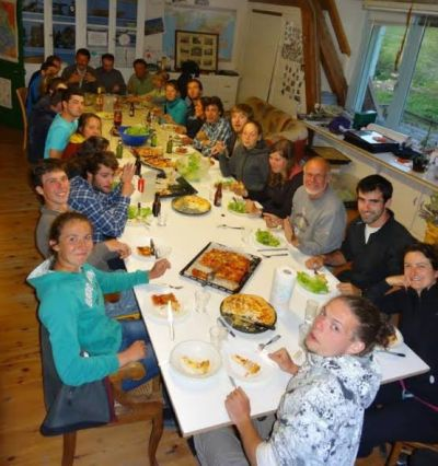 A typical meal at the French field laboratory SAJF